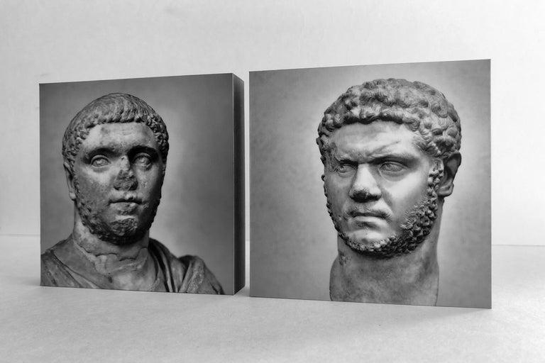 IMPERATORUM - Geta & Caracalla - Romae - Alberto Desirò - Black & White photos - Contemporary Print by Alberto Desirò