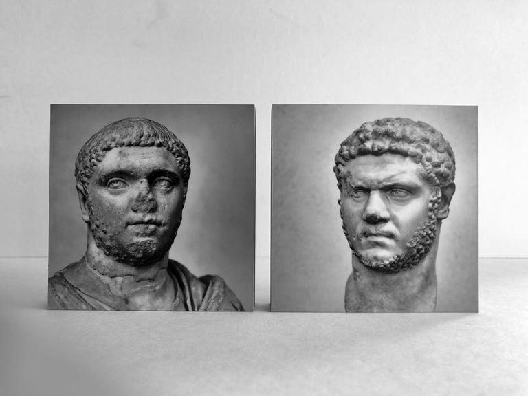 IMPERATORUM - Geta & Caracalla - Romae - Alberto Desirò - Black & White photos - Print by Alberto Desirò