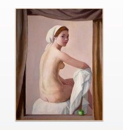 Ritratto Nudo (nude portrait) - Antonio Bueno - fin art print reproduction 1952