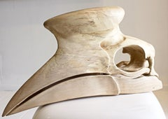 Horn Bill- Contemporary sculpture, Carved Jacaranda wood, 21st Century