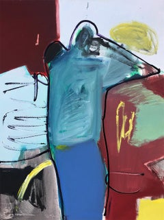 Abstract Figure - Contemporary, Acrylic on Canvas, 21st Century