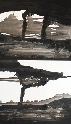 BPW 01 - Diptych, Contemporary, Mixed Media on Paper, 21st Century