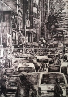 Day to day of people of Johannesburg Vol.4- Contemporary, Etching, 21st Century