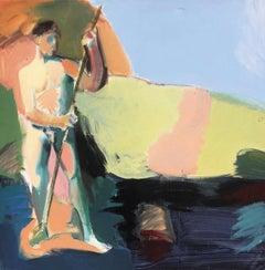 Fisherman 1 - Contemporary, Acrylic on Canvas, 21st Century