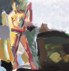 Fisherman 2 - Contemporary, Acrylic on Canvas, 21st Century