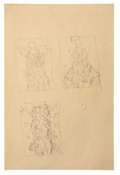 Composition sketches for Portrait of Eugenia Primavesi