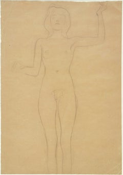"Standing Female Nude, Study for ""Pallas Athene"""