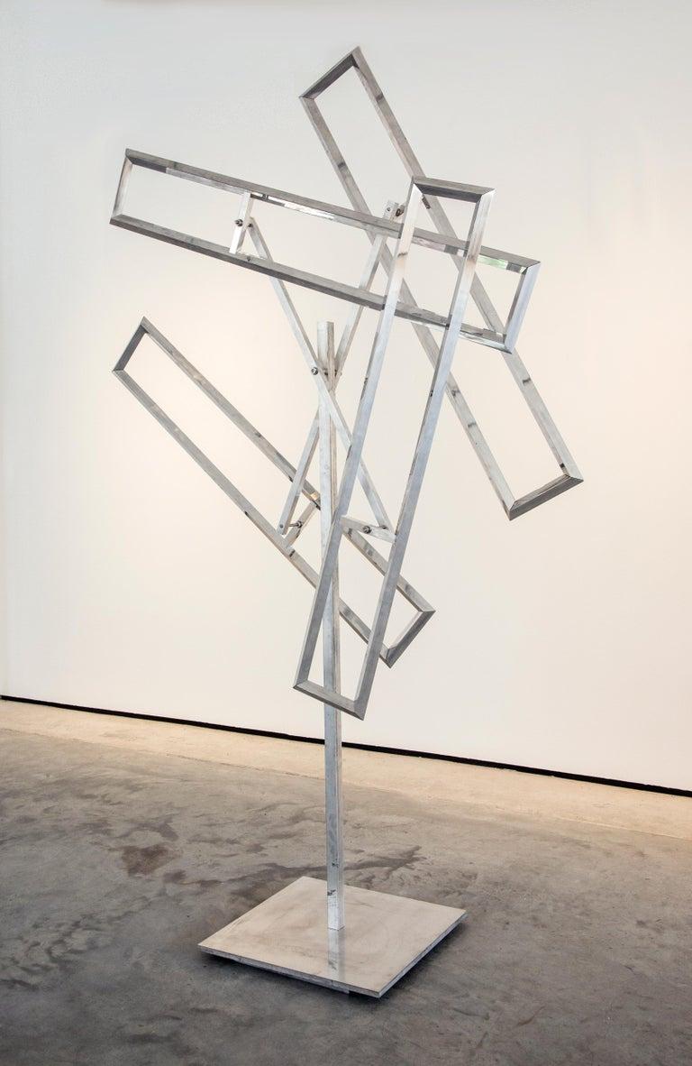 John Poché Abstract Sculpture - Four Runaway Rectangles