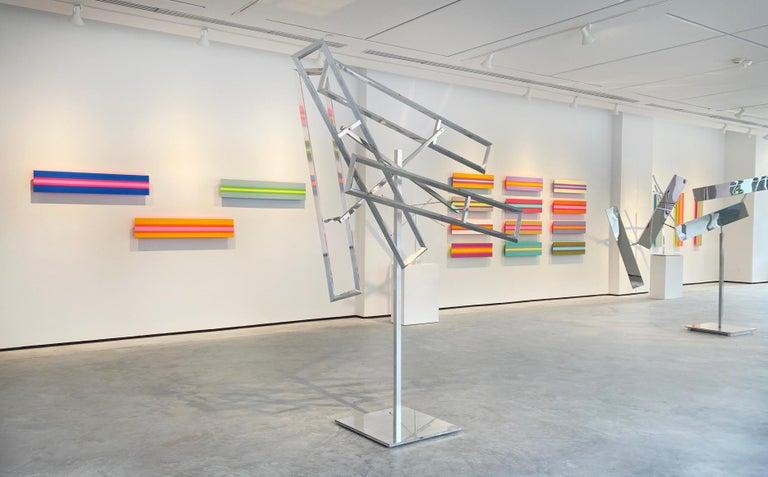 Four Runaway Rectangles - Sculpture by John Poché