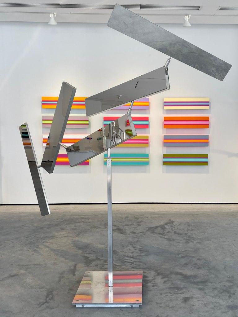 John Poché Abstract Sculpture - Five Panels