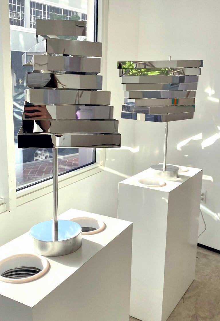 John Poché Abstract Sculpture - Rectangular Ribbon Lamps