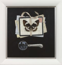 Tied Letters with Butterfly and Magnifying Glass