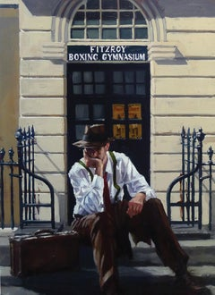 'The Grind' Contemporary Realist British Oil Painting by young Scottish artist