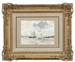'The Barquentine Gazela on the Tagus' Original Modern British Impressionist