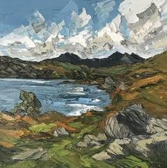 'Llyn Mymbyr' Traditional Welsh Landscape Oil Painting, Palette Knife Technique