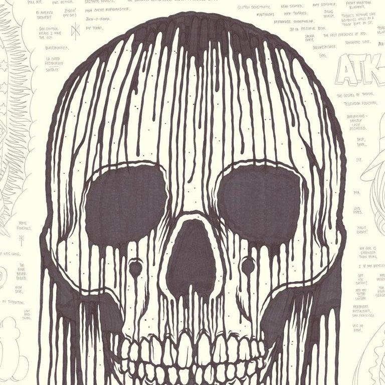 Large Skull - Street Art Art by Mike Giant