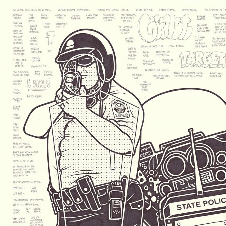 Traffic Cop - Art by Mike Giant