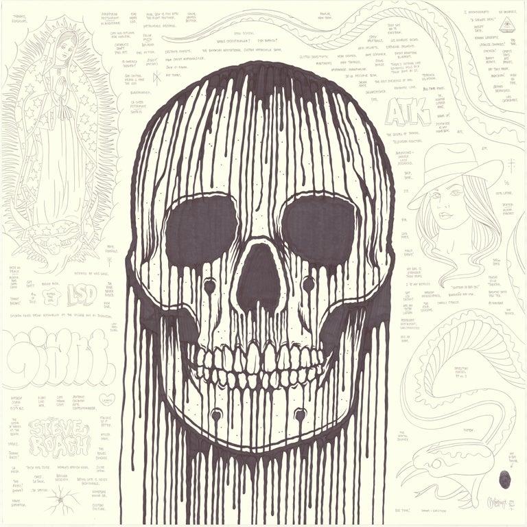 Mike Giant Figurative Art - Large Skull