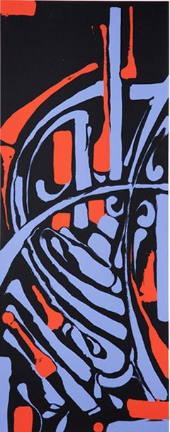 """Zes, """"Epitaph, Red/Blue Edition"""", 2 Color Screen Print, 2012"""