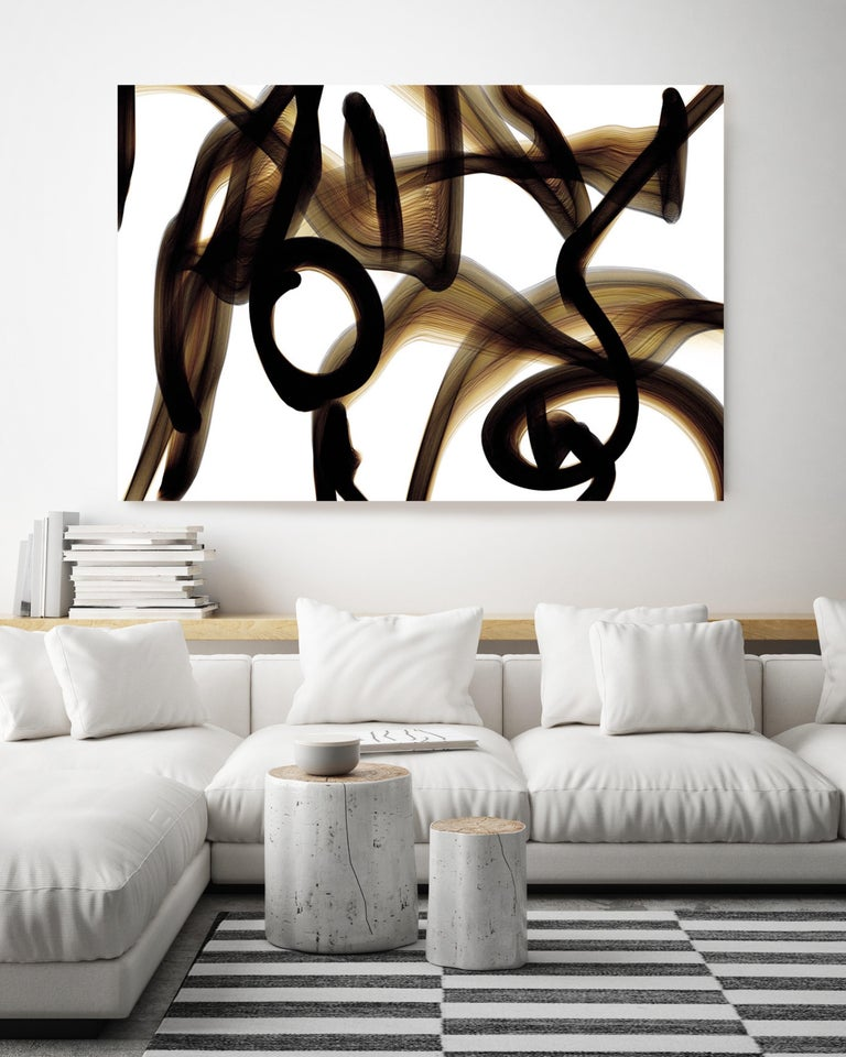 Black and Tan Abstract Painting 48 x 36