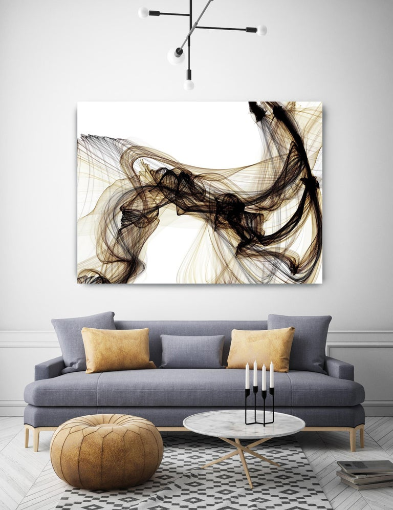 Coper Gold Black Abstract Mixed Media Painting 48 x 36