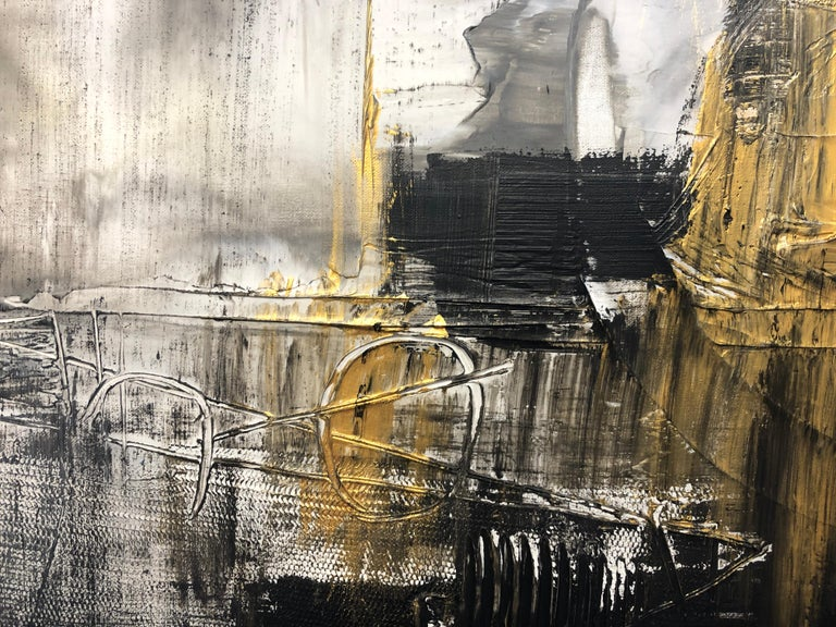 """24 x 48"""" inches, Mixed Media on Stretched Canvas: Acrylic, Stucco, Modeling Paste - Heavy Textured 2019 in Los Angeles, CA Collaborative work: Irena Orlov and Zeev Orlov  TEXTURED ABSTRACT ART Irena and Zeev Orlov's textured abstract art is where my"""