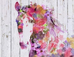 Gypsy Soul Bohemian Colorful Abstract Fine Art Hand Embellished Giclee on Canvas