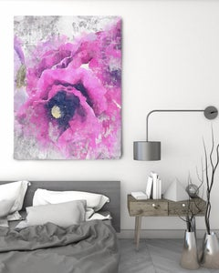 Floral Embrace Vintage Shabby Chic Hand Embellished Textured Giclee on Canvas