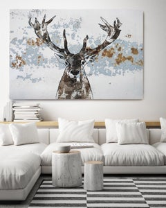 ELK - elk Painting Fine Art Hand Embellished Giclee on Canvas