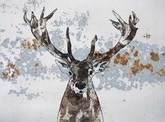 ELK - elk Painting Fine Art Hand Embellished Giclee on Canvas