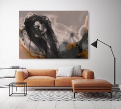 Sensual Woman, Figurative Painting Hand Embellished Giclee on Canvas