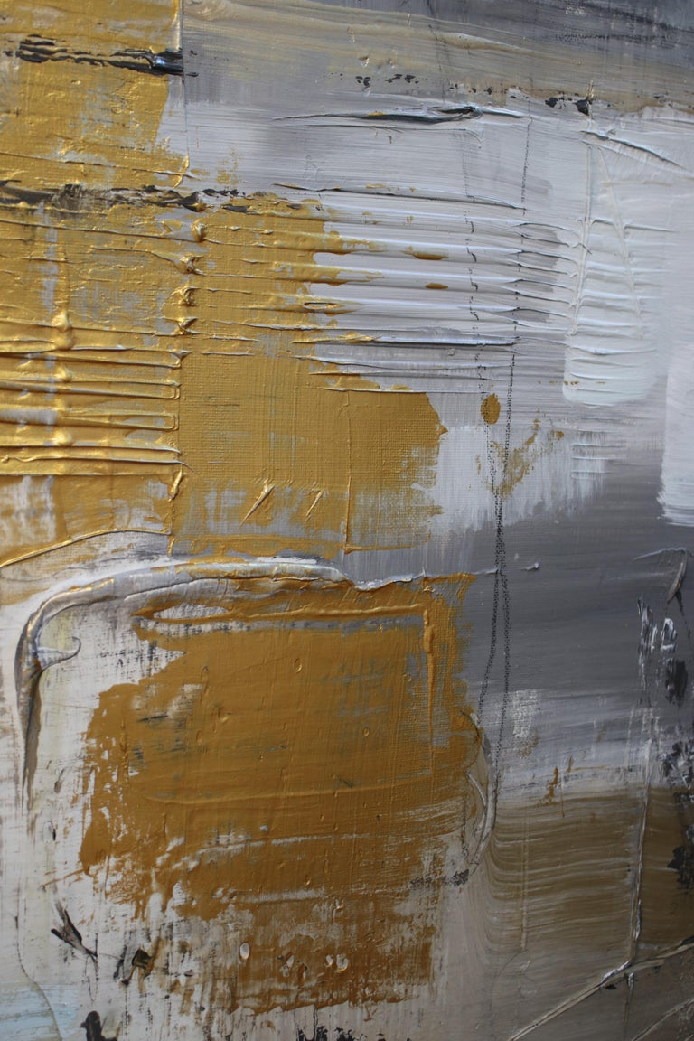 "24 x 48"" inches, Mixed Media on Stretched Canvas: Acrylic, Stucco, Modeling Paste - Heavy Textured 2019 in Los Angeles, CA Collaborative work: Irena Orlov and Zeev Orlov  TEXTURED ABSTRACT ART Irena and Zeev Orlov's textured abstract art is where my"