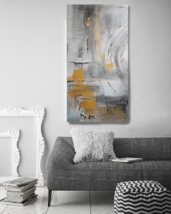 Irena Orlov - Purple Abstract Mixed Medium on Canvas Heavy Textured