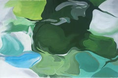 "Green Blue Abstract Oil Painting 48 H X 72 W"", Ode To Spring, Irena Orlov"