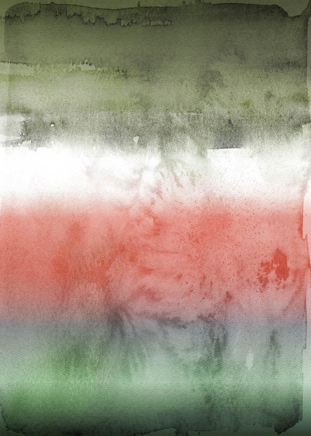 """Green Red Painting Hand Textured Giclee on Canvas 40W x 60H"""" Shades Of Night"""