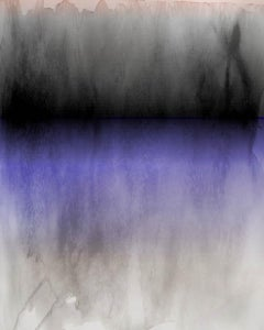 """Purple Black Ombre Abstract Painting Hand Textured Giclee on Canvas 40W x 60H"""""""
