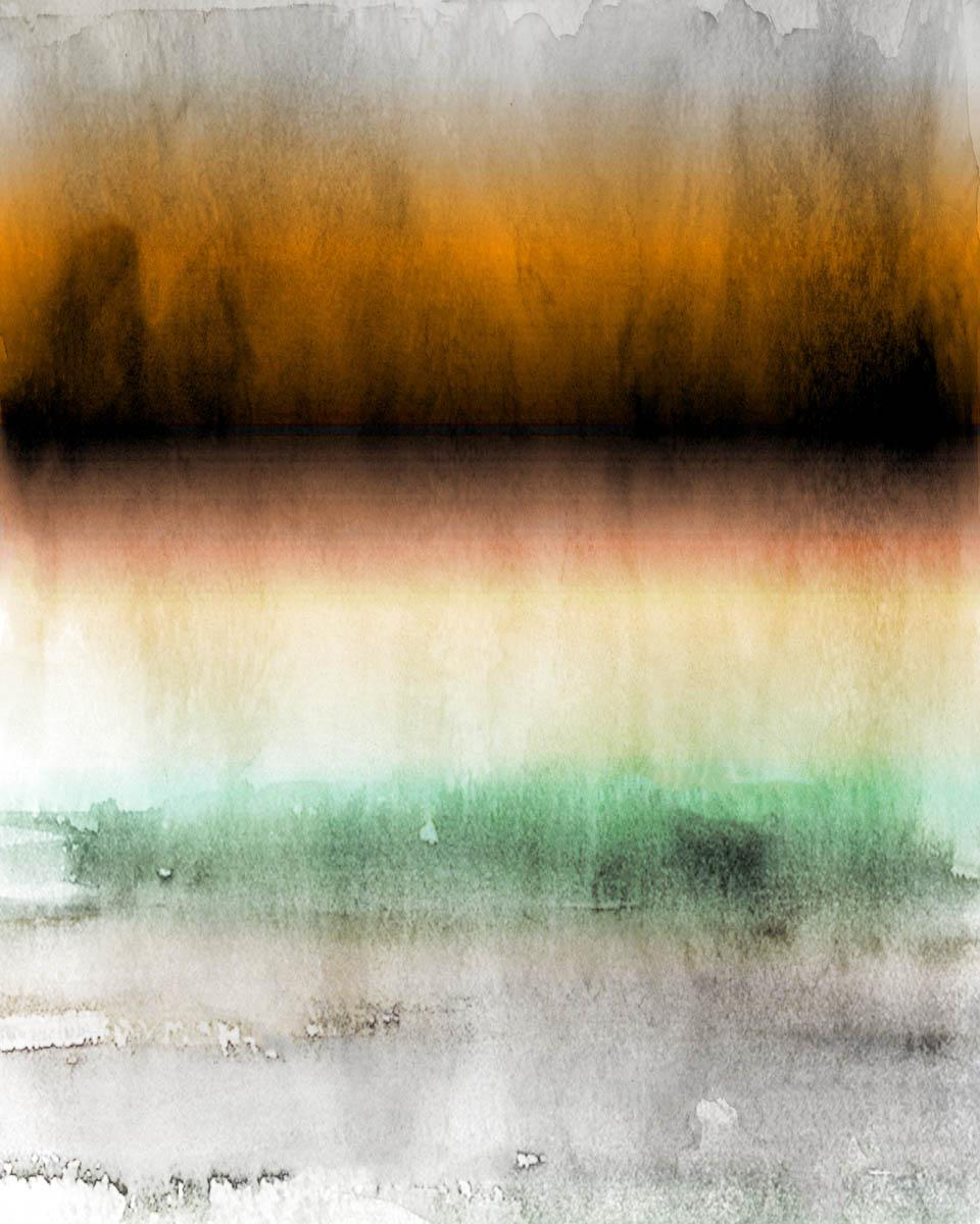 """Yellow Green Ombre Abstract Painting Hand Textured Giclee on Canvas 40W x 60H"""""""