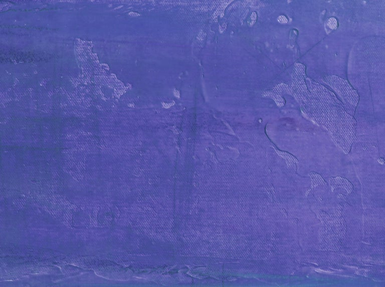 Pink Purple Ombre Abstract Painting Hand Textured Giclee on Canvas 40W x 60H