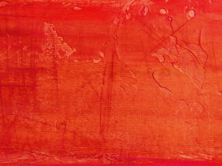 Red Brown Painting Hand Textured Giclee on Canvas 40W x 60H
