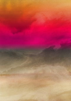"""Inspired by Rothko Painting Hand Textured Giclee on Canvas 40W x 60H"""" Abstract"""