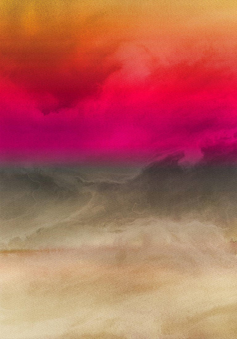Inspired by Rothko Painting Hand Textured Giclee on Canvas 40W x 60H