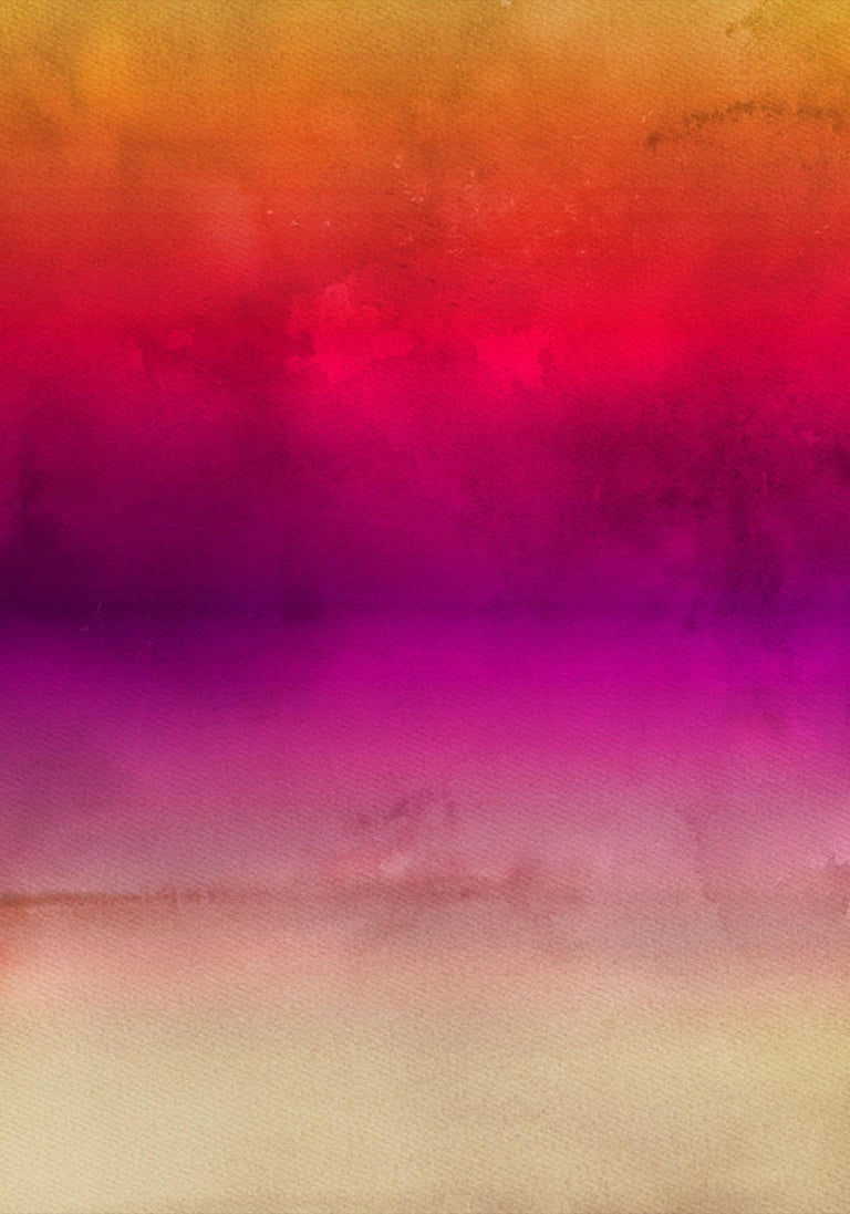 """Irena Orlov Abstract Painting - Pink Red Painting Hand Textured Giclee on Canvas 40W x 60H"""" Inspired by Rothko 1"""