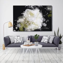 Blow Away on The Wind 5-2 Floral Painting Hand Embellished Giclee on Canvas
