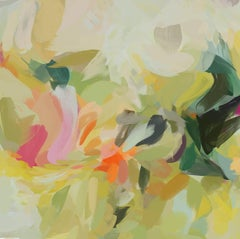 "Green Shades Painting Art Hand Textured Giclee on Canvas 45x45"" Sleep Secrets 5"