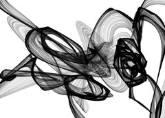 """Minimalist Black And White Painting New Media Chemical Reaction 68 x 44"""""""