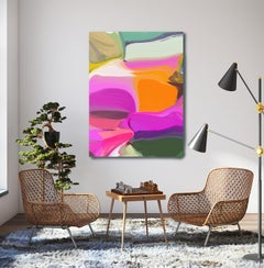 "Electric Modern Painting Art Textured Giclee on Canvas 40x60"" Sunday Morning"