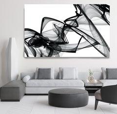 "Minimalist Art Black White New Media Painting on Canvas, 44x72"" It was me"
