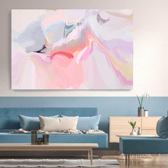 "Pink Purple Interior Artwork Textured Giclee on Canvas 40x60"" The birth 2"