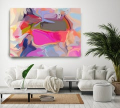 """Bohemian Painting Textured Giclee on Canvas 40x60"""" Between Shadows 2"""