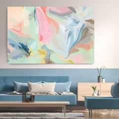 """Abstract Painting Textured Giclee on Canvas 40x60"""" Turbulent Dream"""